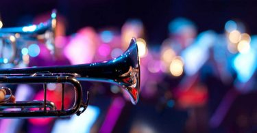 Trombones with blurred background