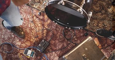 Electronic drums on carpet